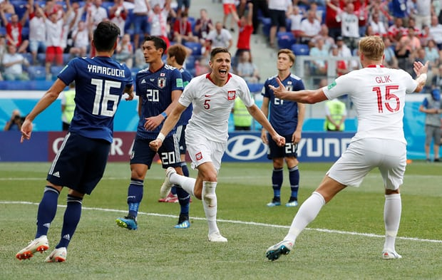 Poland beat Japan by 1-0 in Russia 2018