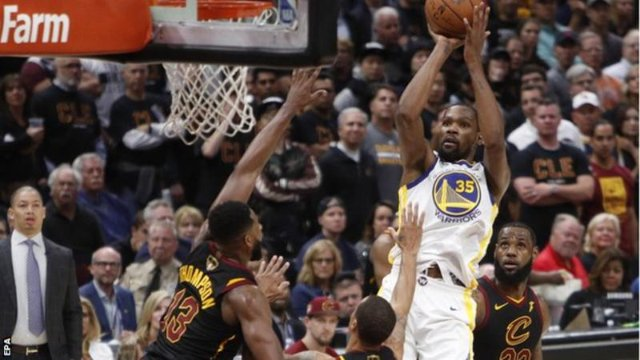 Kevin Durant scored a playoff career-high 43 points for the Warriors