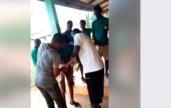 Teachers strip male student half naked at Mankessim SHS