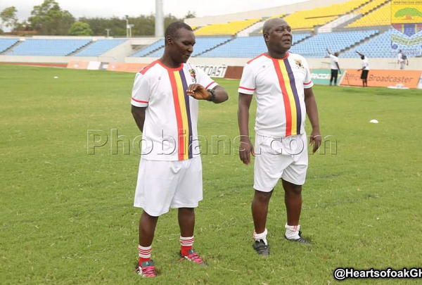 Coach Henry Wellington (right) has had his contract terminated by Hearts of Oak