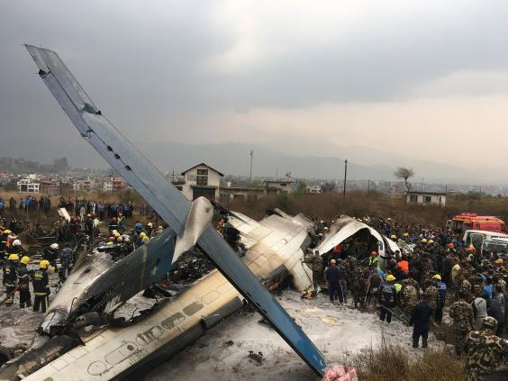 At least 40 dead in plane crash at Kathmandu Airport