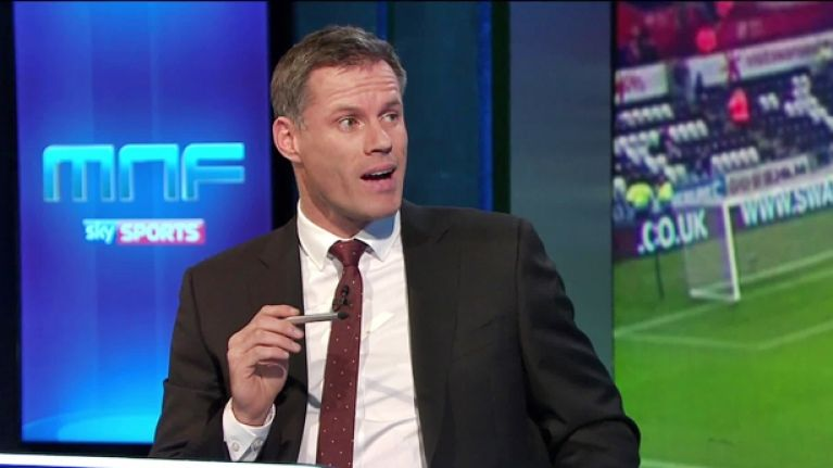 Jamie Carragher has been suspended by Sky for the rest of the football season.