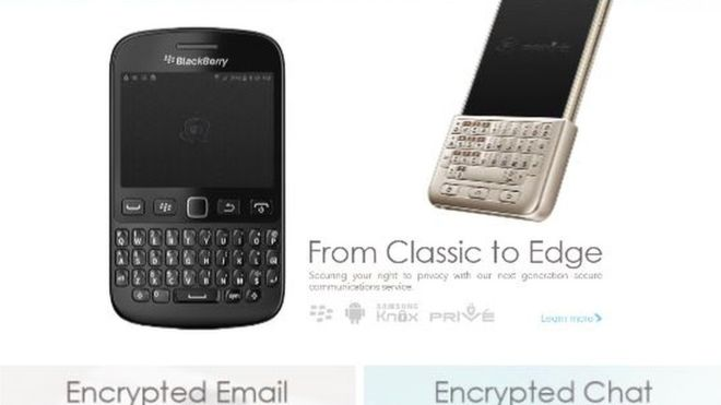 Blackberry modified to 'help drug cartels'