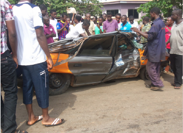 2 dead, 9 injured in an accident on Sunyani -Techiman road
