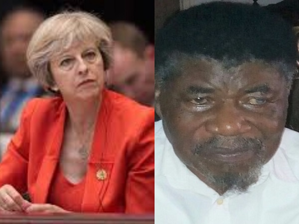Theresa May [Left], UK Prime Minister & Joshua Attoh Quarshie [Right], founding member of UP Tradition
