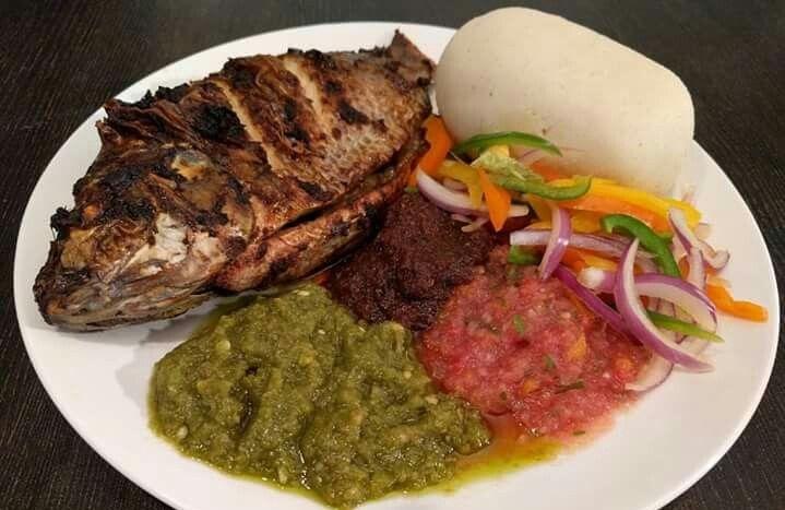 Banku and Tilapia, one of Ghana's favourite dishes