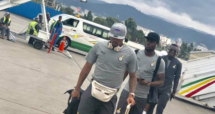 Photos: Black Stars land in Ethiopia ahead of AFCON qualifier