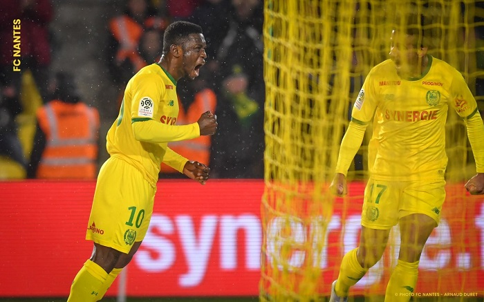 Ghana's Majeed Waris nominated FC Nantes best player in French Cup defeat