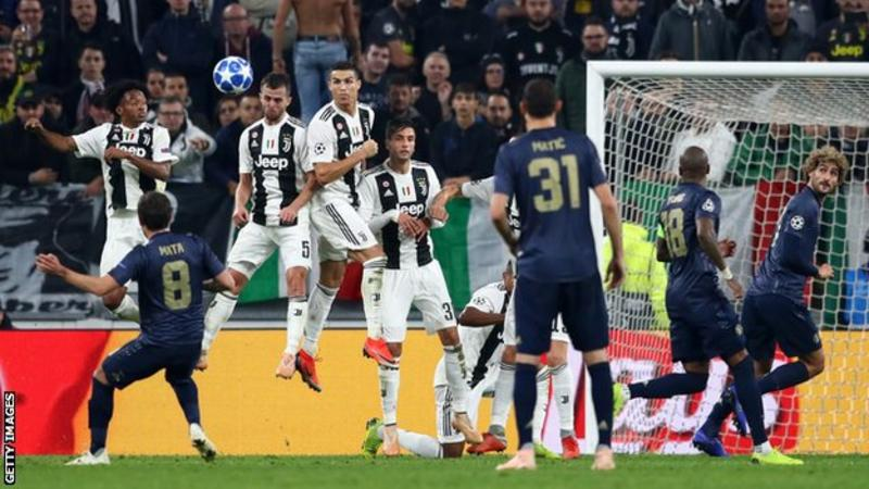 Juan Mata's free-kick was the first goal Juventus have conceded in the Champions League this season (Image credit: Getty Images)