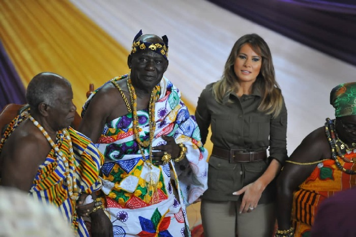 Melania Trump_meets_Cape_Coast_chief