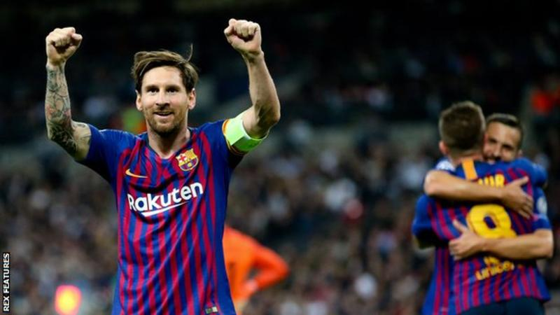 Messi scores twice as Barcelona beat Spurs