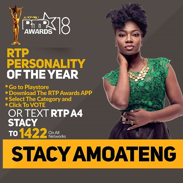 Stacy Amoateng eyes four awards at RTP Awards tonight