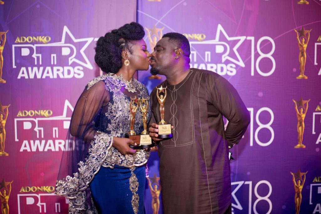Stacy Amoateng and Okyeame Quophie gives couple goals at Adonko RTP Awards