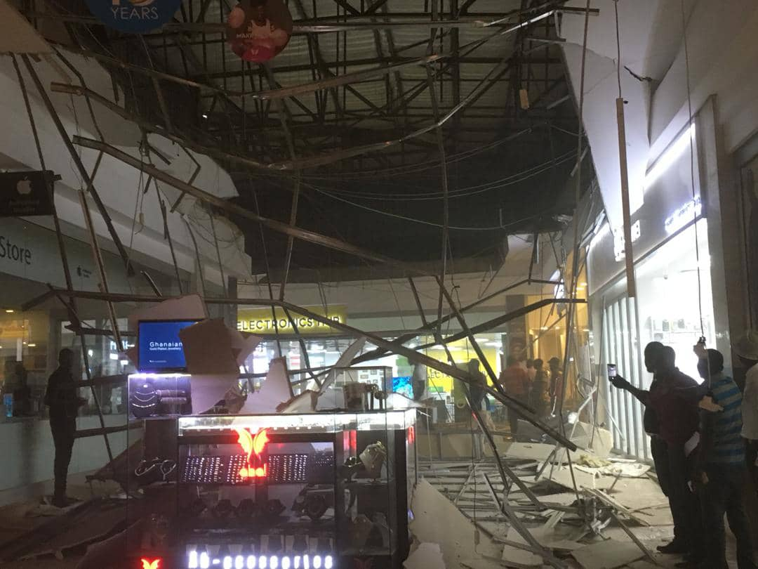 One injured as Accra Mall roof collapses
