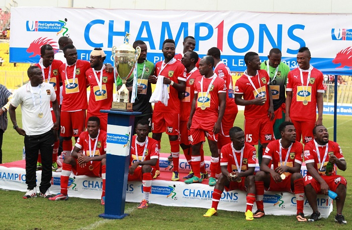 All the Ghana Premier League won by clubs