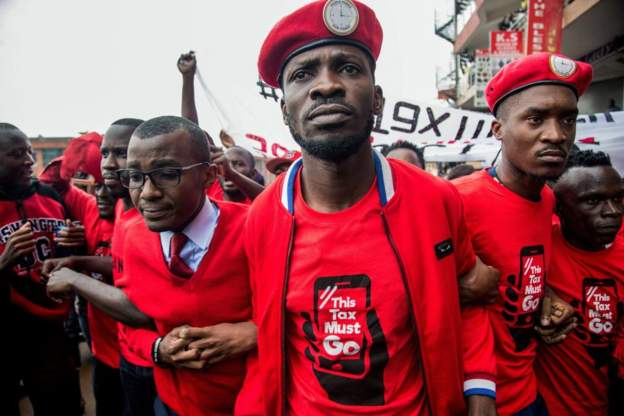 The introduction of the tax inspired a protest in July led by musician-turned-MP Bobi Wine