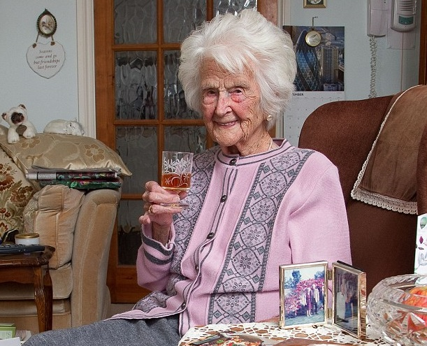 Britain's oldest person: The secret to a long life is whisky every day