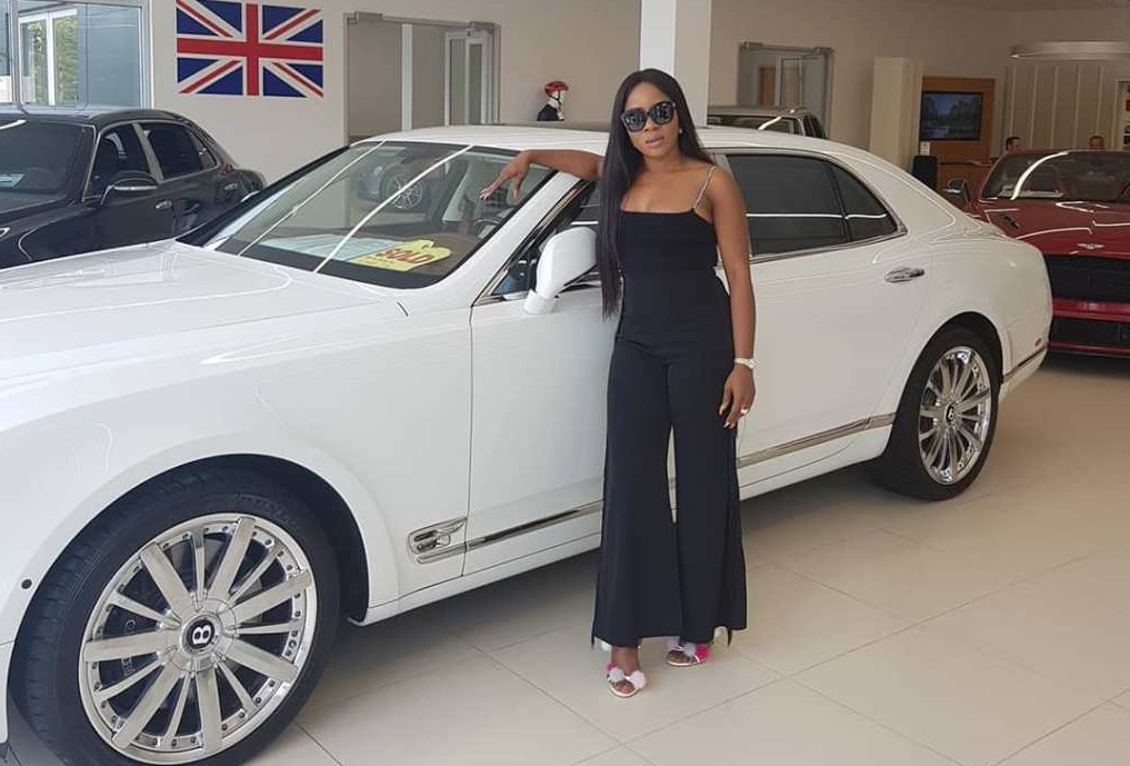 Celebrity blogger acquires brand new Bentley for her newborn son