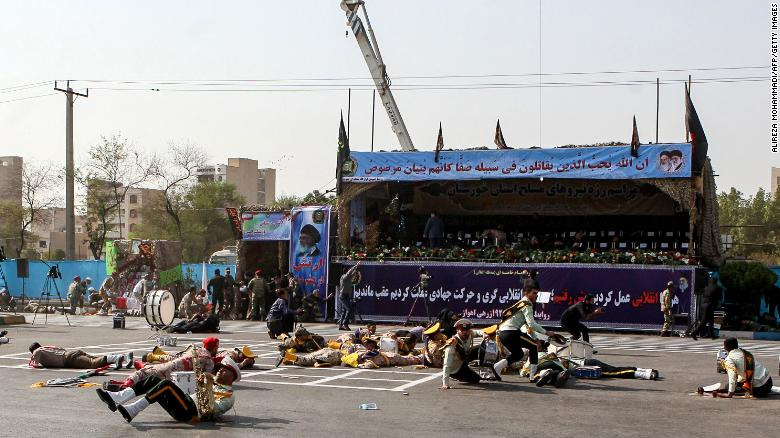 Military parade attacked by gunmen in Iran