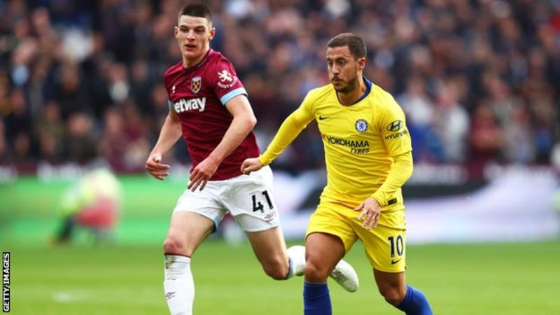 Eden Hazard returned to the starting line-up after being rested for Chelsea's Europa League victory in Greece on Thursday