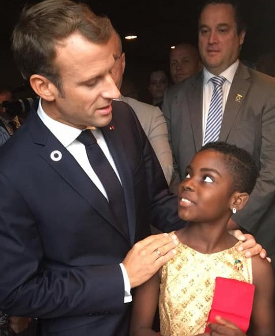 DJ Switch meets president of France in New York