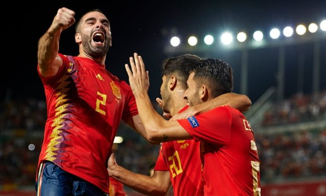 Spain have rattled in the goals against Croatia to take charge of their Nations League group. Photograph: Quality Sport Images/Getty Images