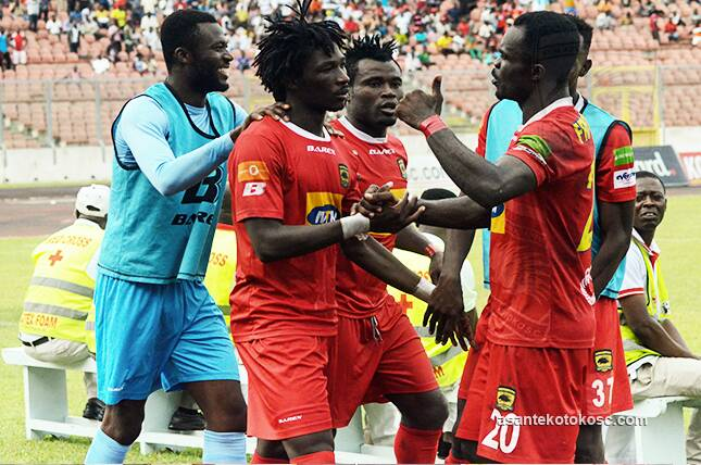 Asante Kotoko beat Ashgold in a five-goal thriller