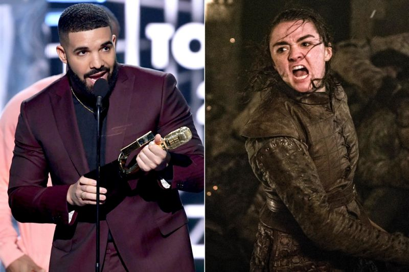 Drake gives credit to 'Game of Thrones' star, Arya Stark in his Billboard Music Awards speech