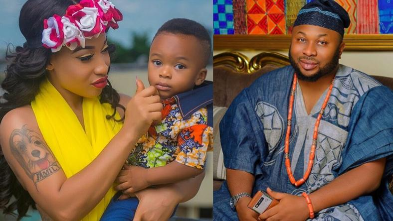 My son thinks his father is dead -Tonto Dikeh reveals