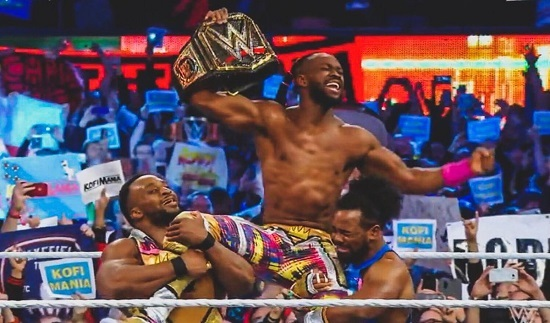 VIDEO+PHOTOS: Ghanaian-American Kofi Kingston becomes new WWE Champion at WrestleMania