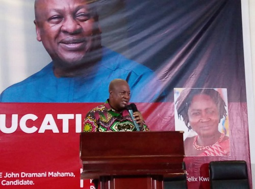 Free SHS challenges a result of gov't' refusal to consult widely- Mahama