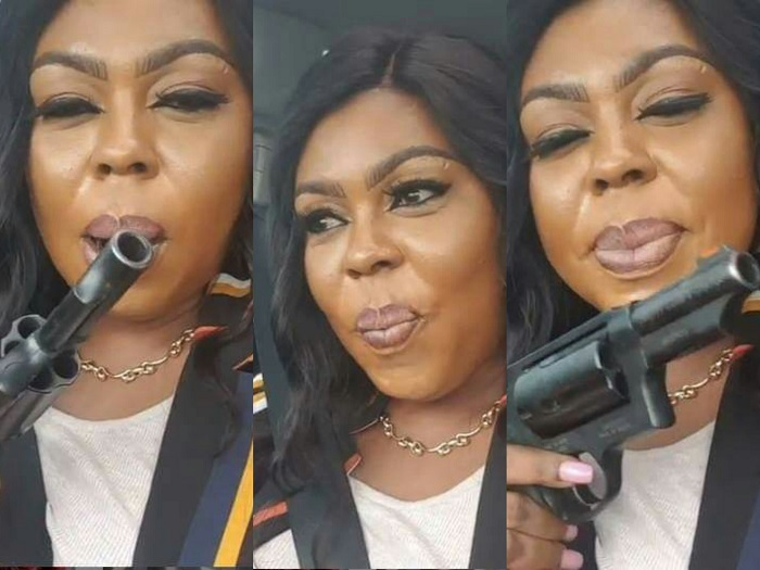 Afia Schwarzenegger warns enemy as she shows gun