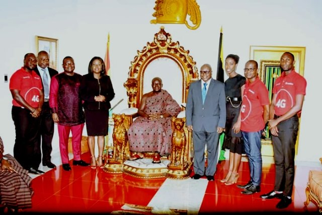 Vodafone commended by Otumfuo Osei Tutu II for appointing a Ghanaian CEO