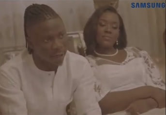 Stonebwoy breaks down in tears at his son's outdooring