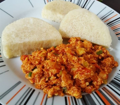 yam with egg stew