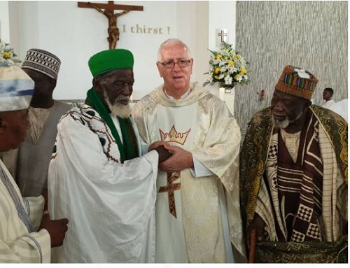 Chief Imam visits Christ the King Church to commemorate his 100th birthday