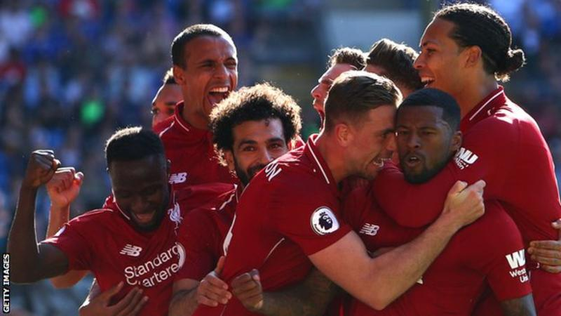 Georginio Wijnaldum's third goal of the season helped Liverpool climb back above Manchester City at the top of the Premier League