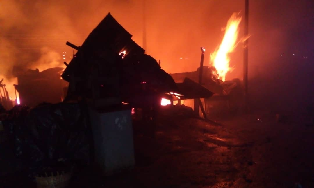 Good Friday turns sour as Fire destroys property at Kumasi Central Market