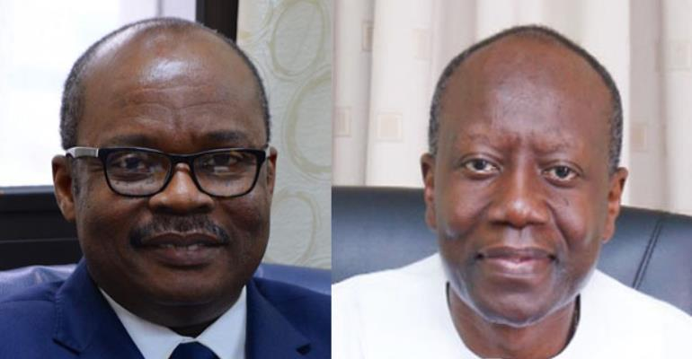 Ken Ofori-Atta (right) and Dr Ernest Addison pen Ghana's 'goodbye' letter to the IMF