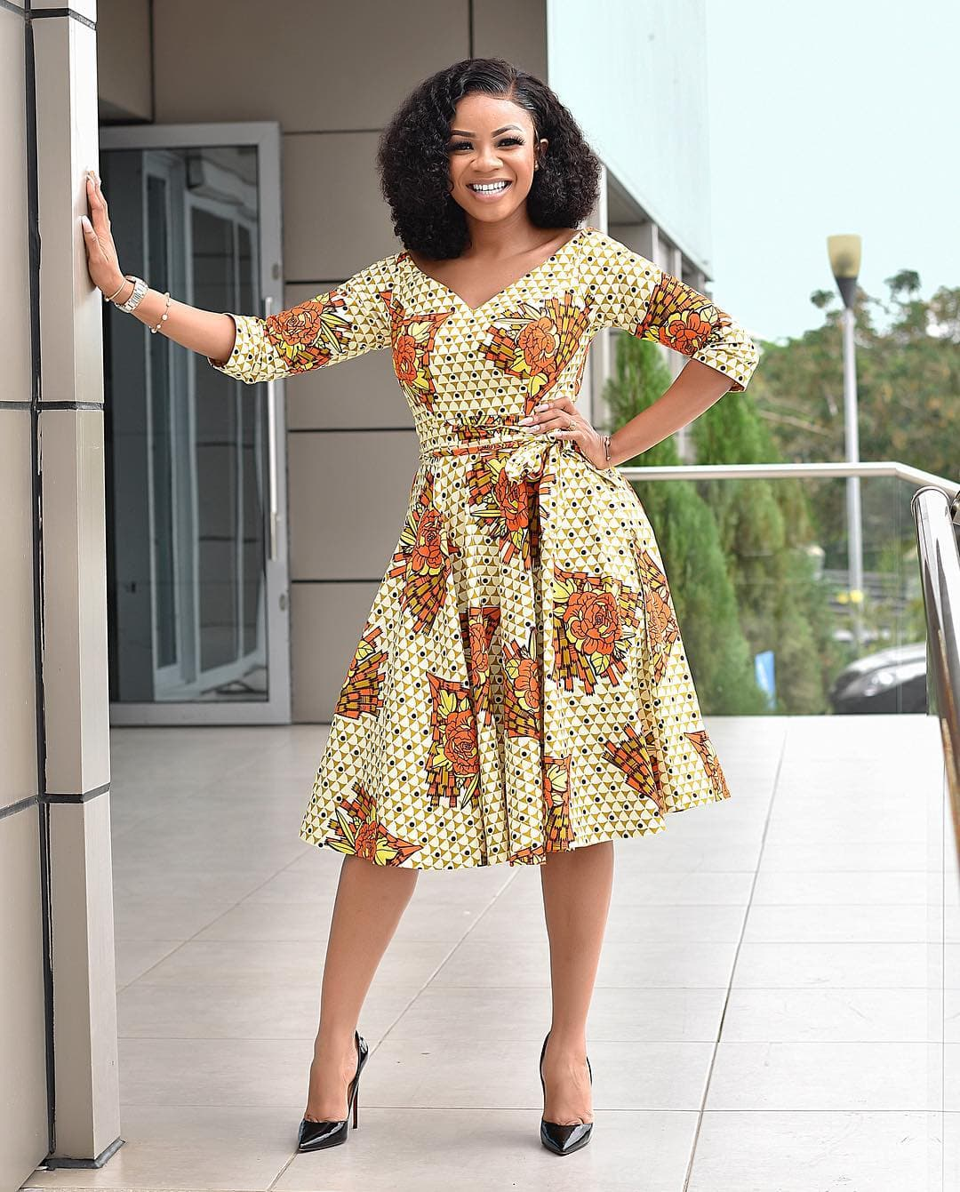 Serwaa Amihere with the perfect office wear outfit