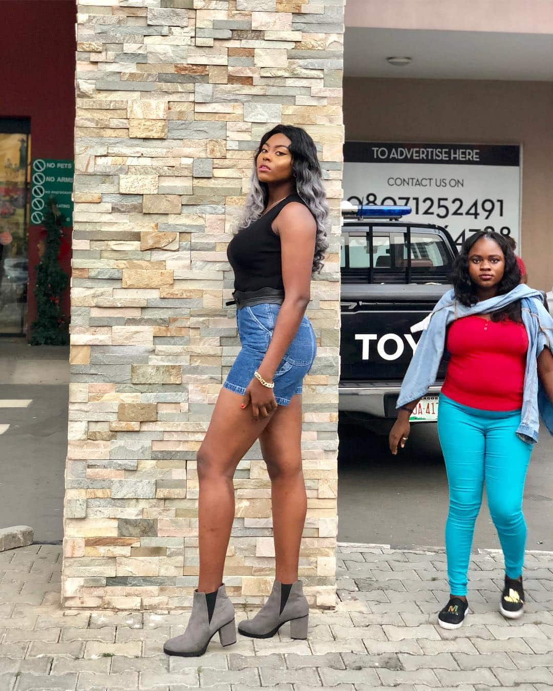 Yvonne Rofem, the tallest lady in Nigeria