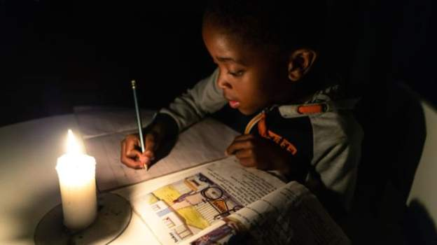 Since May, many children have been doing their homework by candlelight because of blackouts