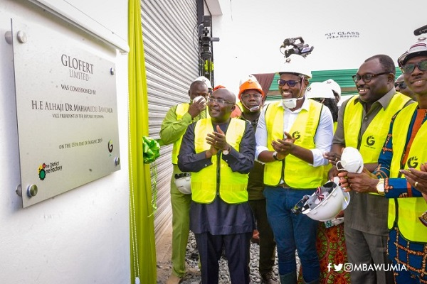 Dr Bawumia commissions Ghana's biggest fertilizer factory