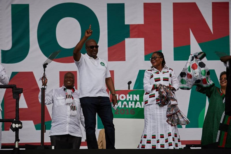Flashback: John Mahama at one of the rallies of the NDC in the lead up to the 2016 polls