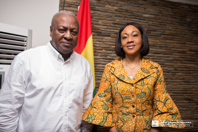 Mahama and EC boss Jean Mensa