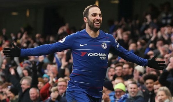 EPL: Higuain hits brace as Chelsea thump Huddersfield 5-0