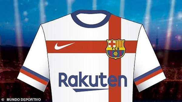 Barcelona chiefs 'reject Nike design for new away kit because it is too white like home shirt of rivals Real Madrid'
