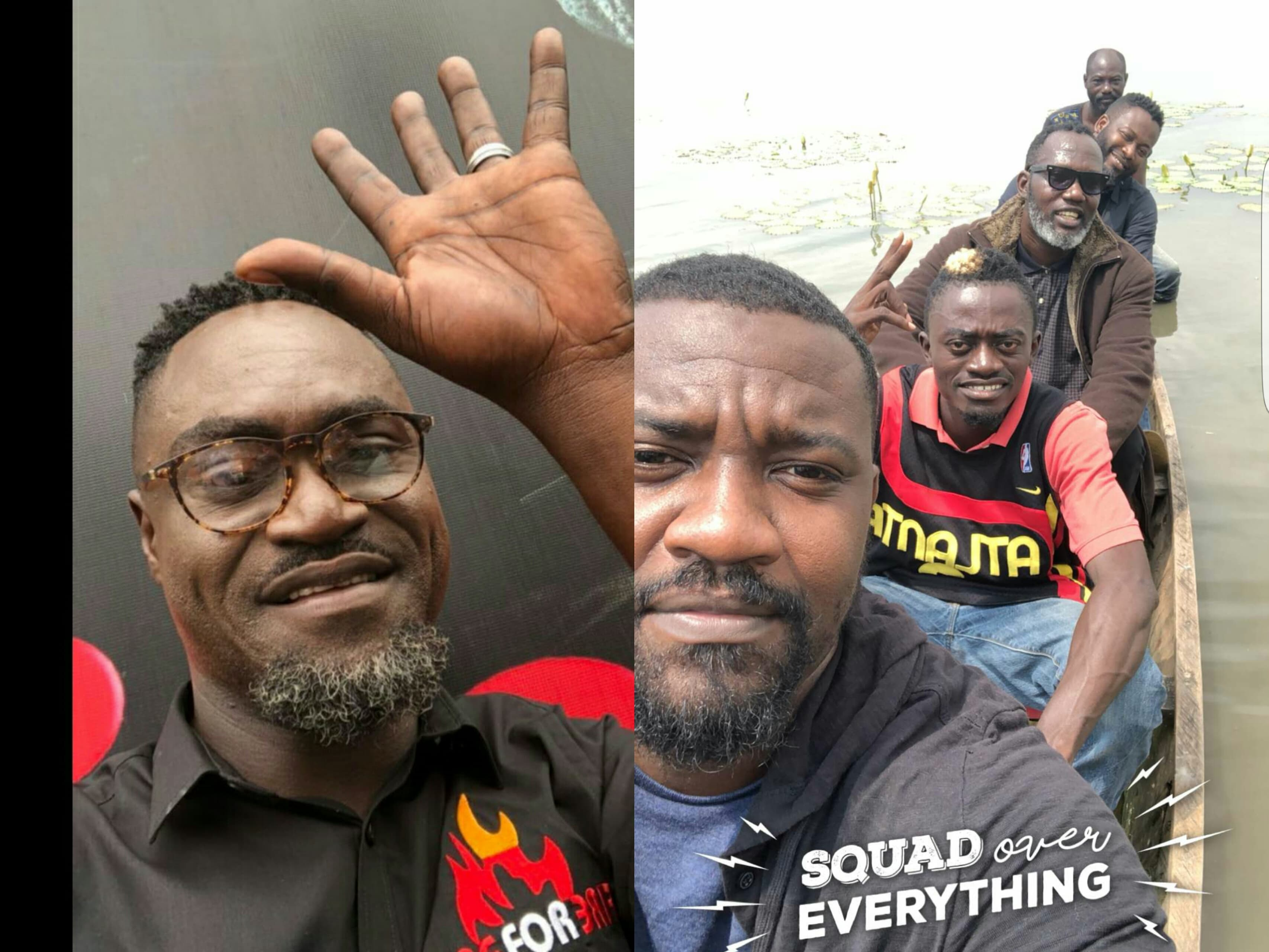 Countryman Songo shooting a movie with John Dumelo and Lil Win