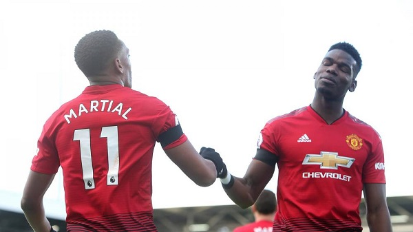 Man U Vs Fulham: EPL: Pogba's Brace Against Fulham Sends Man United To Top