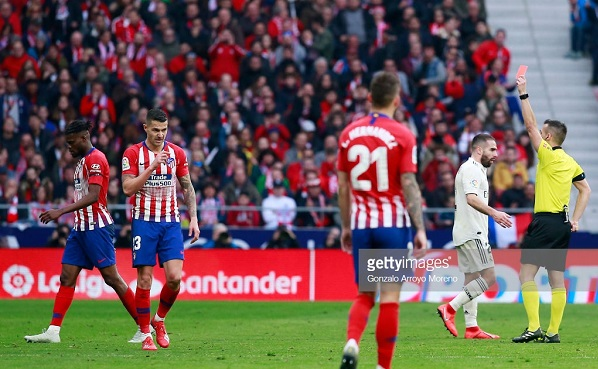 Partey sees Red as Atletico Madrid lose to Real Madrid